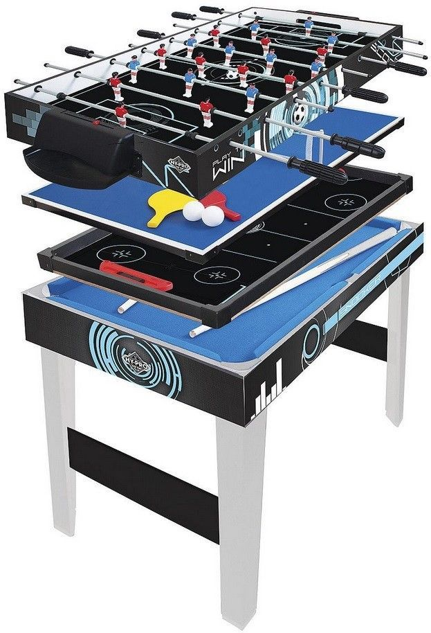 NEW Tesco Hypro 3ft 4-in-1 Multi Games Table Football Pool Tennis & Hockey  | eBay