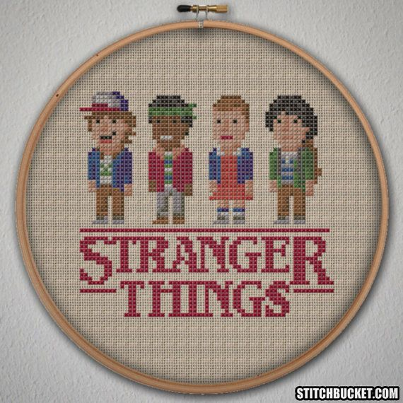Stranger Things Cross Stitch Pattern Instant by StitchBucket