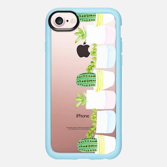 Casetify iPhone 7 Classic Grip Case - Happy Succulents by Lauren Davis #Casetify