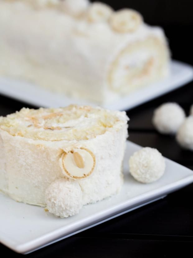 Raffaello Cake Roll Recipe