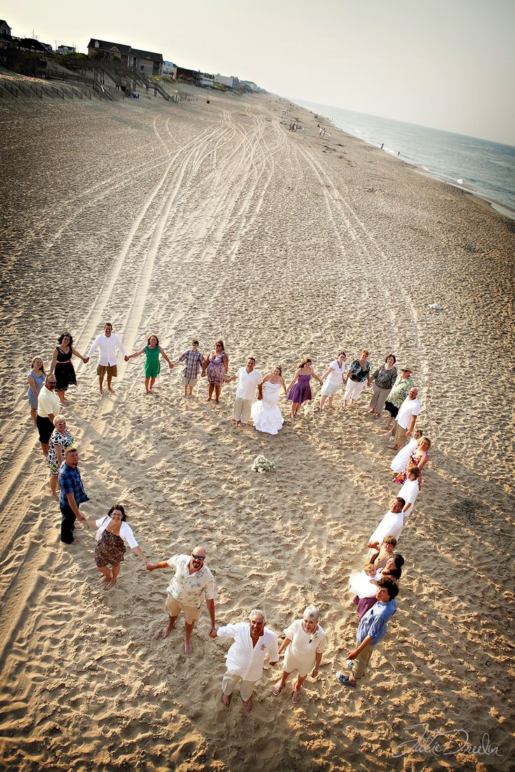 Great idea for a group wedding shot from Julie Dreelin's Beach Productions. #OBX: Group Wedding, Wedding Ideas, Group Shots, Wedding Shot, Wedding Photo, Beach Productions, Beach Wedding, Dreelin S Beach