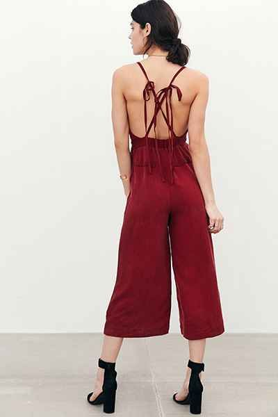 Kimchi Blue Shirley Surplice Jumpsuit - Urban Outfitters