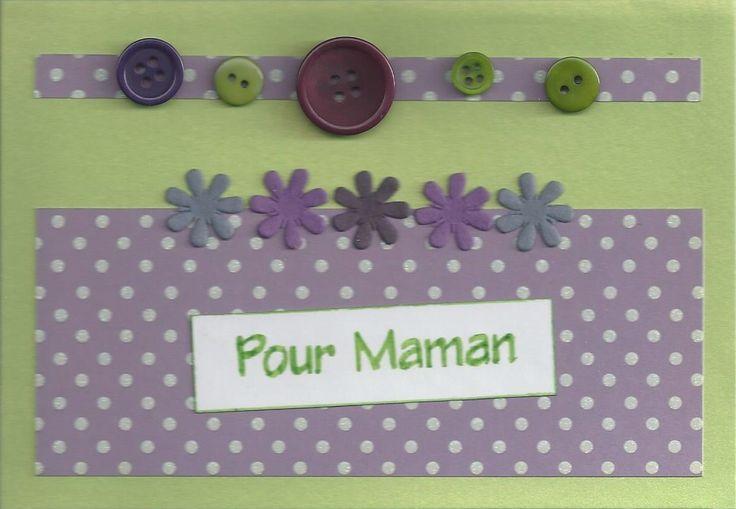 Carte fleurie pour la f te des m res avec des boutons - Comment faire un bracelet avec des boutons ...