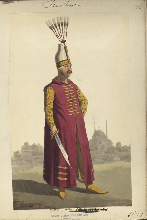Subaltern of Janisaries. The Vinkhuijzen collection of military uniforms / Turkey, 1818. See McLean's Turkish Army of 1810-1817.