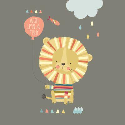 Lion Art Print: Color Prints Inspiration, Design Illustrations, Art Illustrations, Illustrations Inspiration, Animal Illustrations, Children Illustrations, Art Prints, Chalk Lion, Lion Art