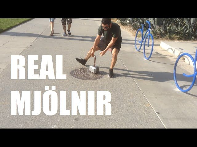 This Guy Builds Thor's Hammer Using Electromagnet And Fingerprint Scanner And Challenges Everyone To Lift It