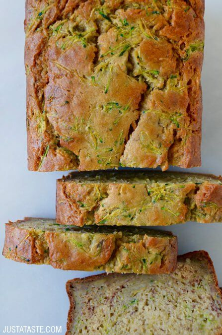 Zucchini Banana Bread #recipe via justataste.com