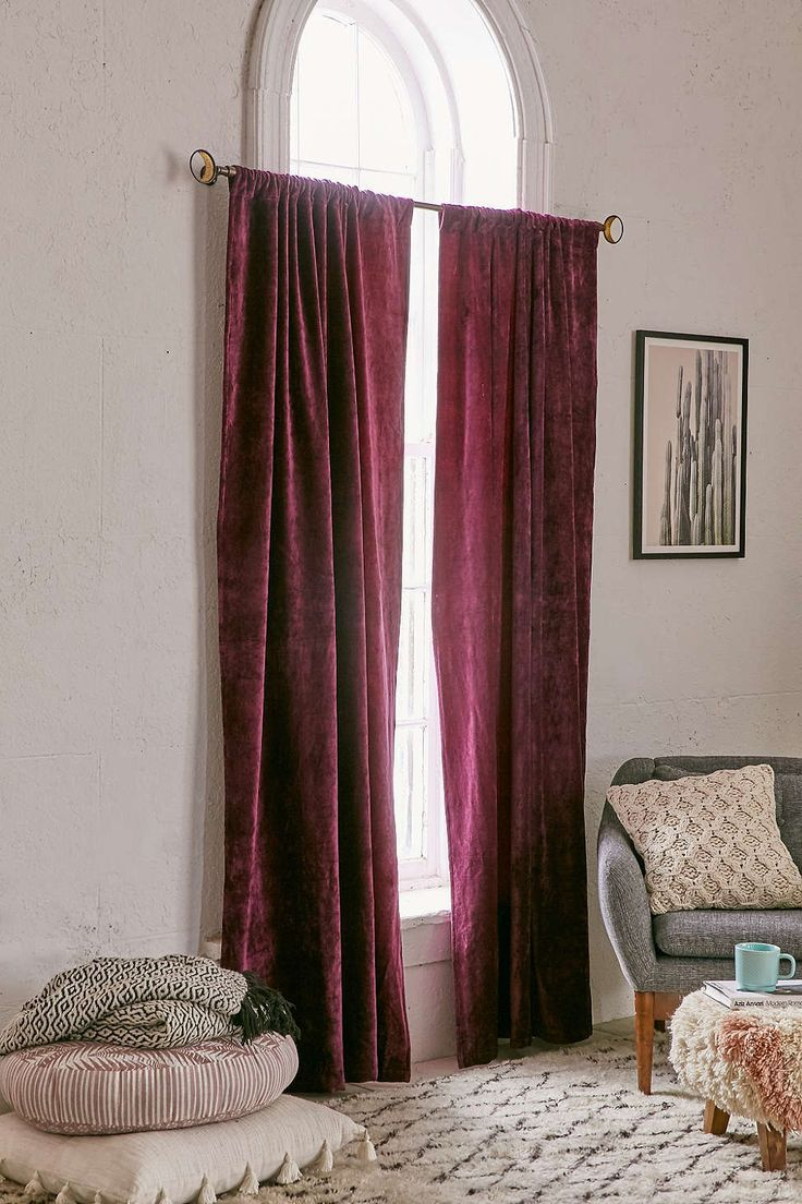 Purple silk curtains - 12 Marvelous Ways To Use Velvet In Your Home
