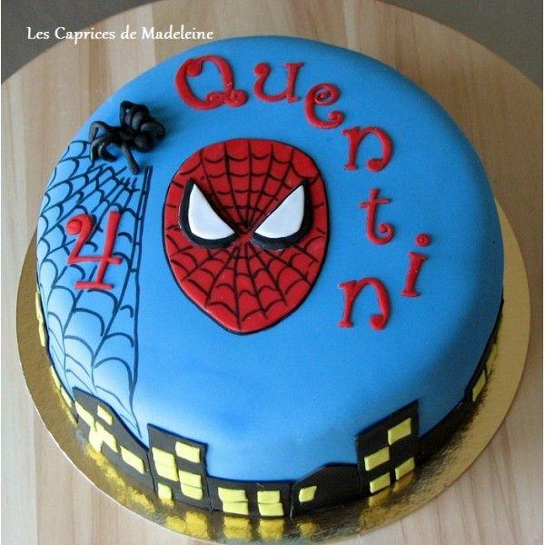 le gâteau Spiderman, l'homme araignée