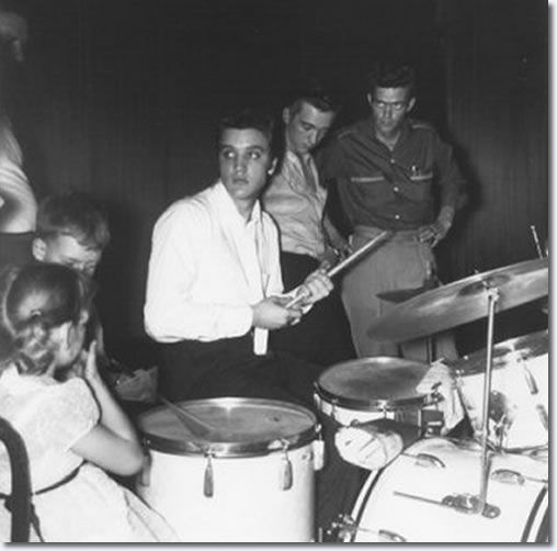 June 30, 1956 - backstage at the Mosque Theatre, Richmond VA