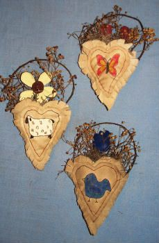 Lillie Mae's Crafts-Close to My Heart Pocket Ornies pattern