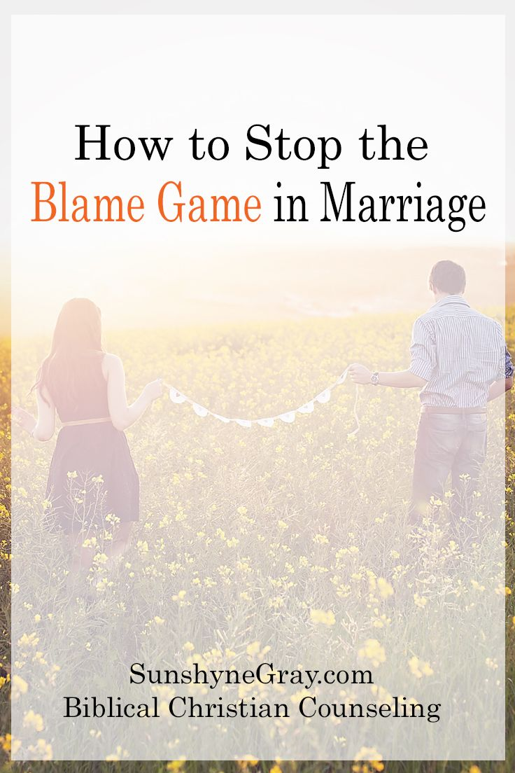 Christian Counseling | Marriage Counsel | Blameshifting | Conflict Resolution