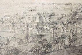 Zeichnung Obersteinbach b. Scheinfeld W.Rothe 1838