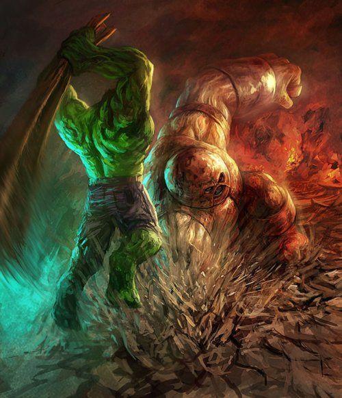 The Incredible Hulk vs. Juggernaut