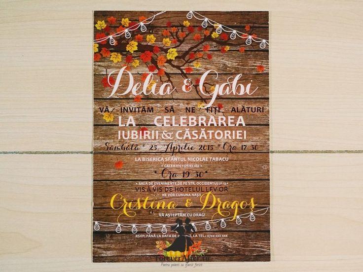 Invitatie de nunta Culorile Toamnei | ForeverAfter.ro