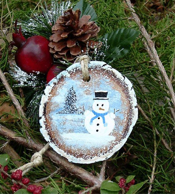 Wood Burning Christmas Ornaments