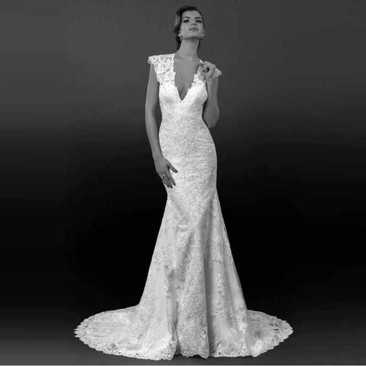 Старинные кружева рукава Cap длинные платья линия спинки длиной до пола свадебные платья 2016 ручной работы купить на AliExpress