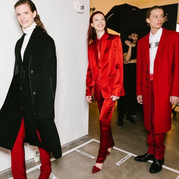"""Vogue Runway on Instagram: """"Suited up at Helmut Lang's Fall 2019 show. See eve..."""