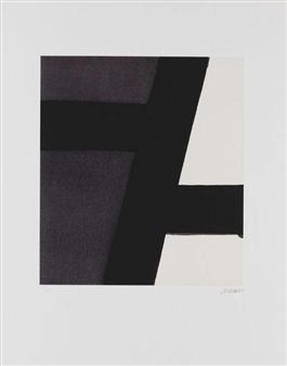 Sérigraphie nº 21 By Pierre Soulages ,1994