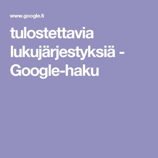 tulostettavia lukujärjestyksiä - Google-haku