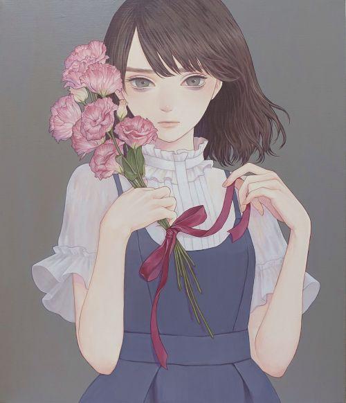 「束ねられていた」 紺野真弓 Mayumi Konno Girl girly illustration drawing art beautiful art cute