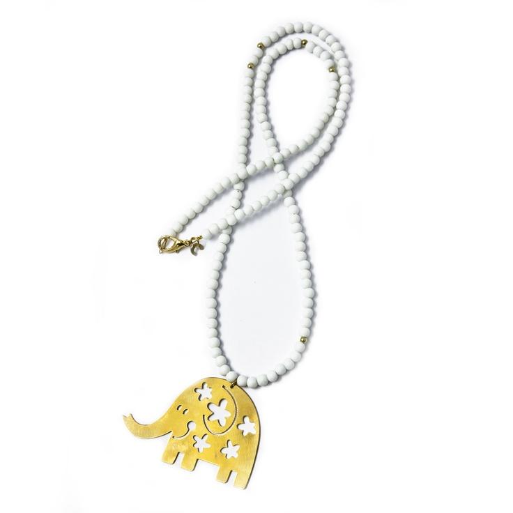 White Elephant Pendant