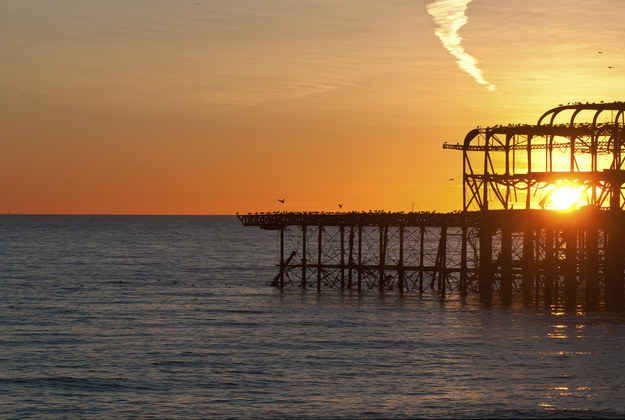 The West Pier was the Best Pier, the perfect backdrop for beach barbecues at sunset. | 30 Things Everyone Who Went To University Of Sussex Will Remember
