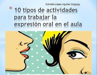 AYUDA PARA MAESTROS: 10 tipos de actividades para trabajar la expresión...