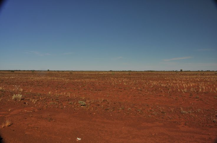 It s red and its flat and it was hot... and gorgeous!!!!!!  from the air-conditioned 4x4