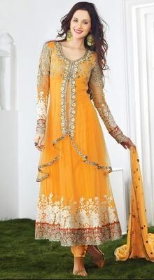 Glamorous Yellow Chudidar Kameez