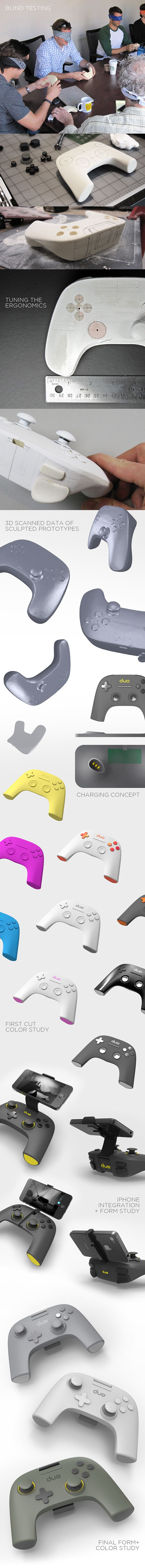 Duo Gaming teamed with Pensar to develop a family of iOS gaming devices. The Gamer Pro, an ergonomic game controller for the iPhone and iPad, is the cornerstone of the product family. Goals: + provide excellent ergonomics + build an identity unique to…