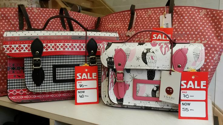 Cute satchels from Yoshi by Lichfield Leather, and shopper bags by Radley. These satchels are perfect for back-to-school cool - but just as appealing for ladies who like something a little unique and quirky on their arm. In our sale now, at Luck of Louth on Eastgate in Louth, Lincolnshire.