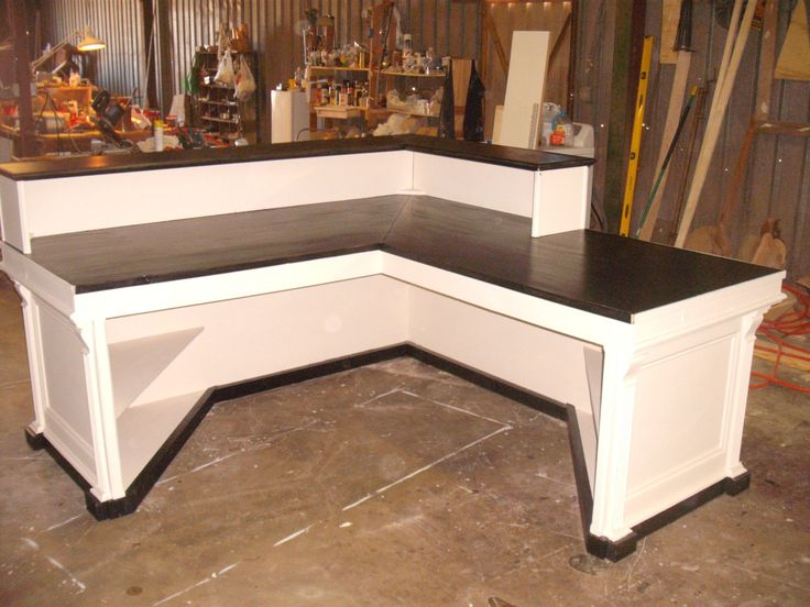 L shaped cash wrap counter or desk by jamesrobinson on Etsy