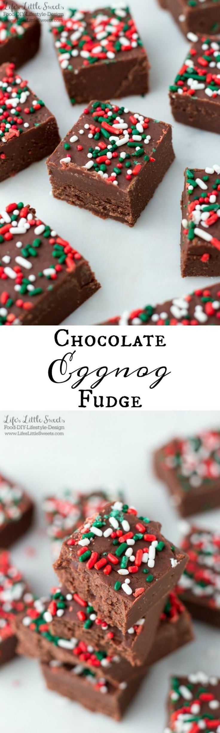This Chocolate Eggnog Fudge is so smooth, chocolate-y and the perfect indulgence to enjoy yourself or give as a gift to someone special. It's infused with eggnog making it perfect for the Christmas & Holiday season! This recipe uses mini marshmallows making it an easy-to-make, quick fudge recipe.
