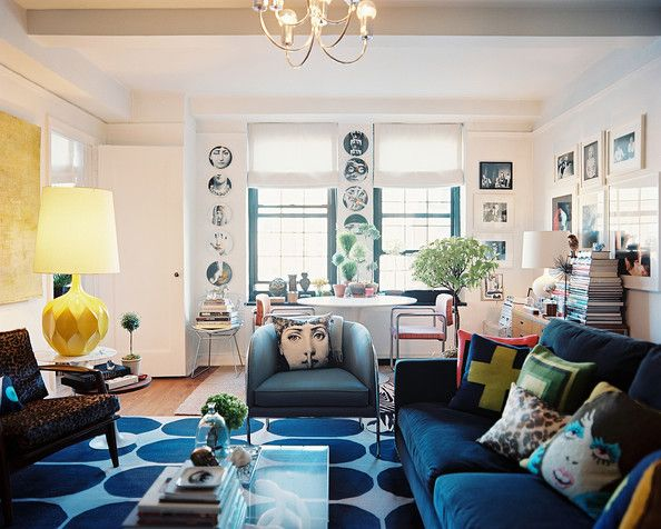 Living Room Eclectic Photo - An open living-dining space