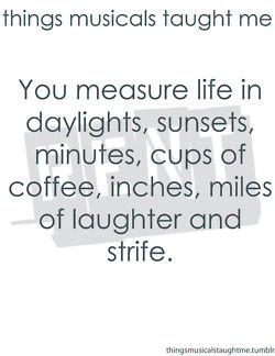 Rent.: Inspiration Theatre Quotes, Renting Music Quotes, Music Taught Me, So True, 525 600 Minute, Things Music, 525600, Measuring Life, Cups Of Coffee