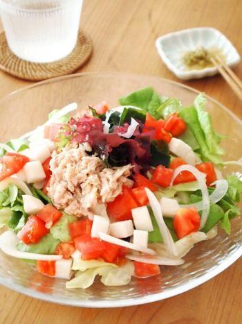 食物繊維・栄養たっぷり。カラダに嬉しい「海藻サラダ」のレシピ ... 柚子胡椒で♪ツナと海藻のサラダうどん