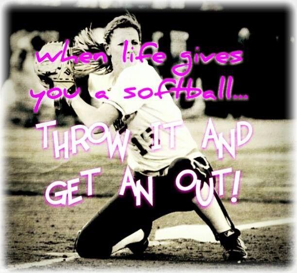 When life gives you a softball #Softball #TinCanApparel #quotes