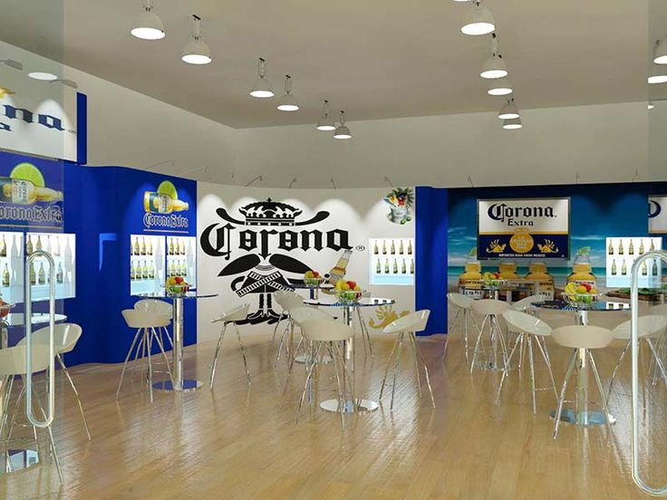 Spacious Trade Show Booth for Corona. Get a free design from us http://www.expodisplayservice.ae/FreeDesign.aspx