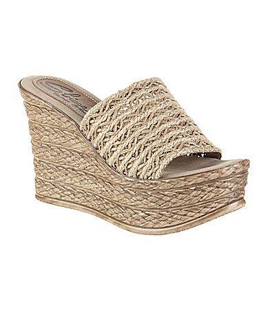 Sbicca Cabana SlipOn Wedge Sandals #Dillards