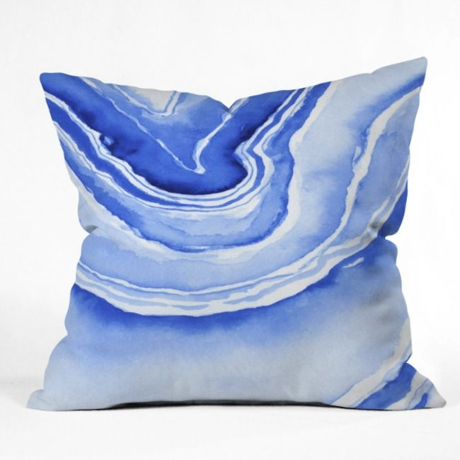 Shop our Blue Agate Outdoor Throw Pillow and other coordinating products in this fun resort inspired Laura Trevey collection. UV protected and mildew resistant. Available in 4 different sizes.