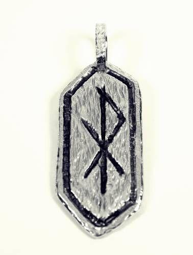 Colgante Vikingo Runa del Amor, joyas vikingas, runas vikingas,