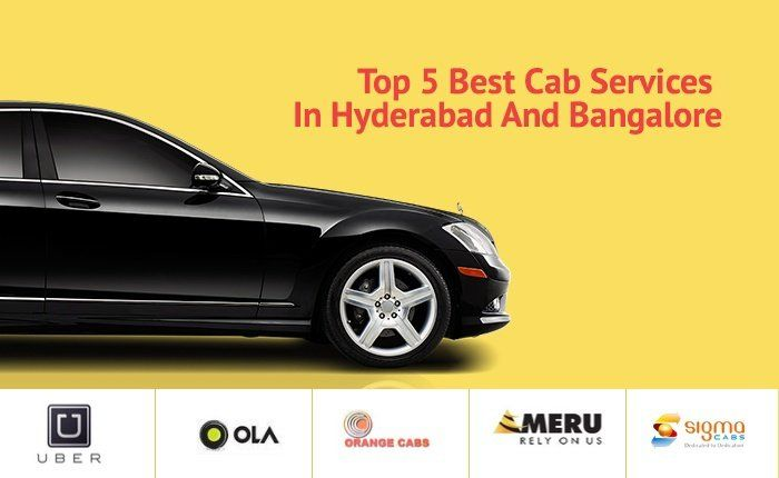 Top 5 cab services in #Hyderabad and #Bangalore. #taxi #cars