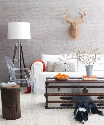 Faux Deer Decor Inspiration. If you'd do faux, then why not real? I have some hiding away in the attic!! Hmmmm....