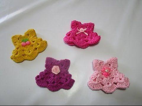 How to Crochet Souvenir baby dress diy tutorial