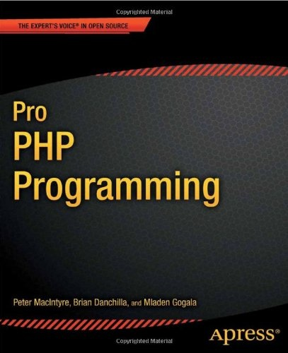 Pro PHP Programming http://www.evincedev.com/open-source