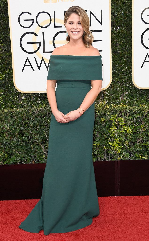 Jenna Bush Hager from 2017 Golden Globes Red Carpet Arrivals