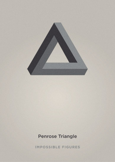 """Penrose triangle is known as an impossible object. It was created by Swedish artist Oscar Reutersvärd in 1934. The mathematician Roger Penrose independently devised and popularised it in the 1950s, describing it as """"impossibility in its purest form""""."""