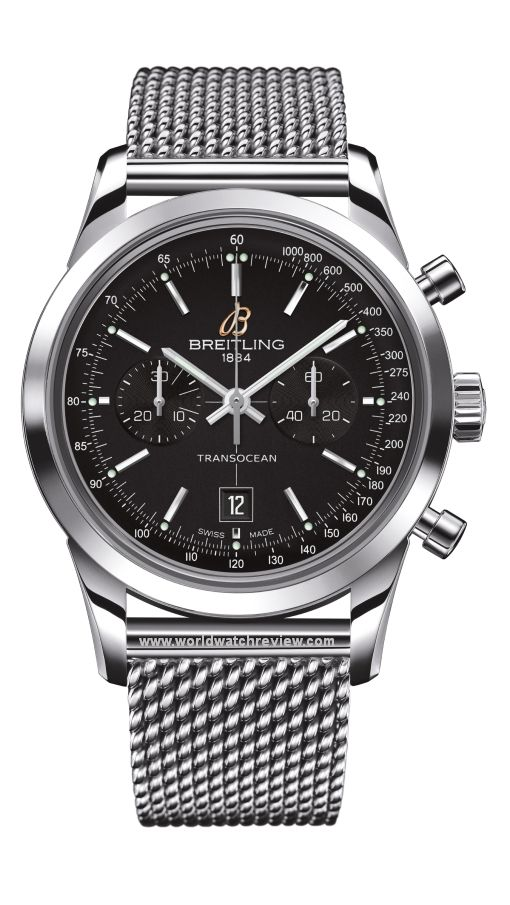 Breitling Transocean Chronograph 38 Automatic in stainless steel