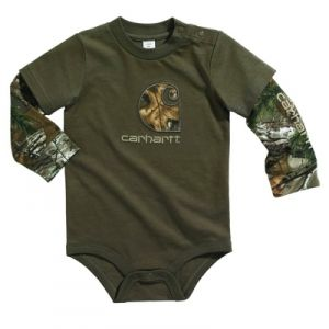 Carhartt Infant Layered Sleeve Bodyshirt - Shale Brown - Mills Fleet Farm